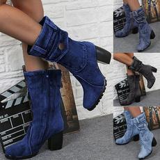 ladyshoe, Plus Size, Denim, High Heel