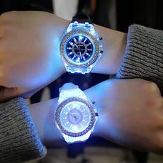 Fashion, Waterproof, Silicone, wristwatch
