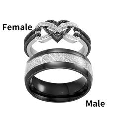 Sterling, Couple Rings, DIAMOND, Stainless Steel