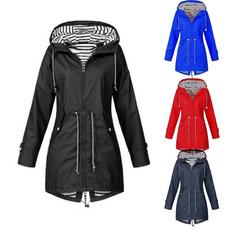 trenchcoatsforwomen, waterproofcoat, hooded, Sleeve