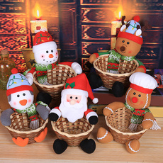 snowman, Christmas, Food, Santa Claus