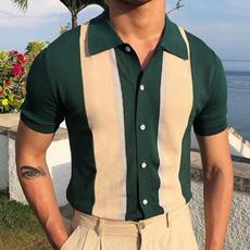 lapel, polo men, Knitting, Polo Shirts