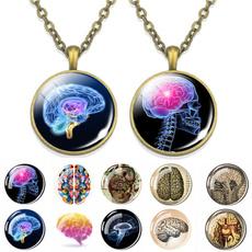 Heart, Chain Necklace, doctorgift, skull