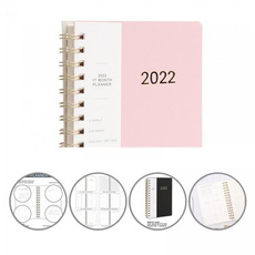 spiralring, 2022diaryplanner, weeklyplanner, 17month