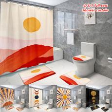Bathroom, 3dshowercurtain, Waterproof, art