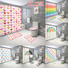 Bath, rainbow, Bathroom, 3dshowercurtain