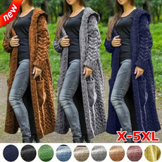 casual coat, knitted, knittedcadigan, hooded sweater