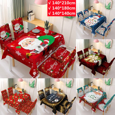 Waterproof, Christmas, christmastablecovercloth, chirstmaschaircover