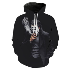 3D hoodies, 3djokerhoodie, graphicpullover, Fashion
