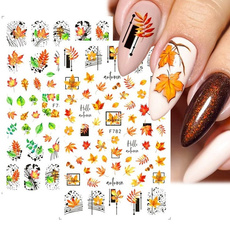 nail decoration, decoration, nail decals, leaf