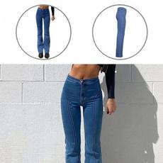 stripedjean, trousers, autumnjean, Women jeans