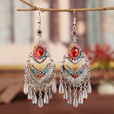 Gemstone Earrings, Chinese, Earring, tasselearring