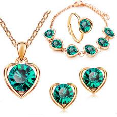 Heart, Fashion, fourpieceladiesjewelryset, fashionladiesaccessorie