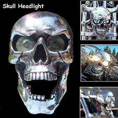 motorcycleaccessorie, motorcyclelight, skull, chrome