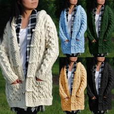 autumnwinter, Women Sweater, sweater coat, Long Sleeve