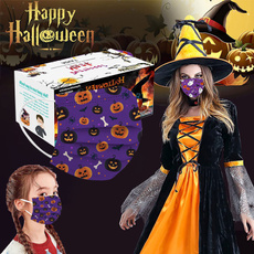 3layer, mouthmask, Skeleton, Halloween