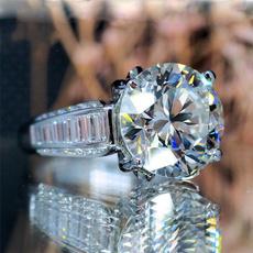 DIAMOND, 925 sterling silver, wedding ring, Classics
