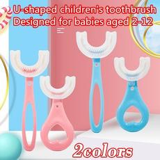 babytoothbrush, Fashion, siliconetoothbrush, ushapedtoothbrush