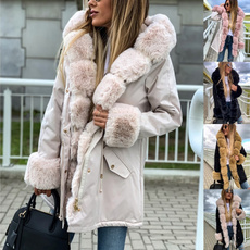 fauxfurcoat, Plus Size, fur, womenwarmcoat
