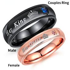 Couple Rings, Steel, 925 sterling silver, Jewelry