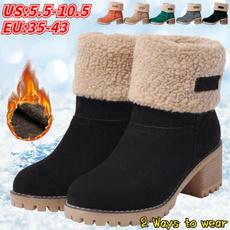short boots, thickheel, Waterproof, Outdoor