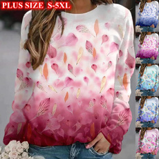 Plus Size, Long Sleeve, printtop, Tops