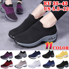 wedge, Sneakers, Plus Size, Ladies Fashion