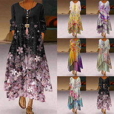 Plus Size, irregulardres, Sleeve, long dress
