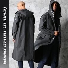 Fashion, waterproofraincoat, longraincoat, Waterproof
