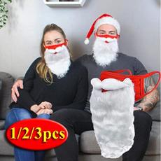 Funny, beardmask, Santa Claus beard, Christmas