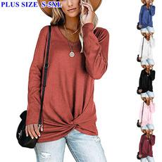shirtsforwomen, sleeve v-neck, Plus Size, vnecktop