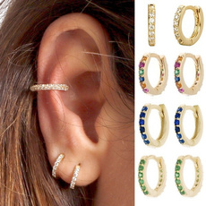 Hoop Earring, rhinestonehoopearring, Jewelry, cartilage earrings