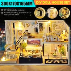 miniatureapartment, diydollhouseset, Toy, led