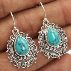 Sterling, Turquoise, Dangle Earring, Gemstone Earrings