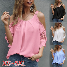 Summer, Plus Size, Lace, Sleeve