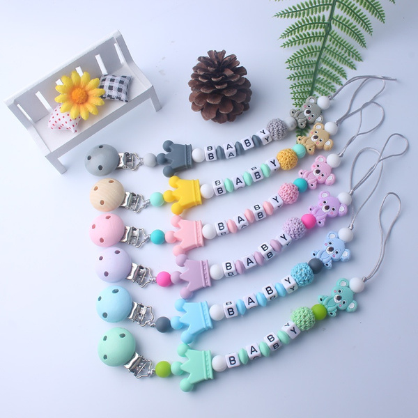 Toy, siliconeteether, Chain, Clip