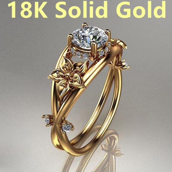 Holiday, crystal ring, wedding ring, gold