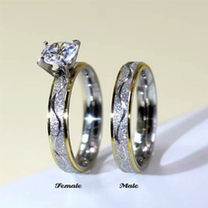 Steel, DIAMOND, Love, wedding ring