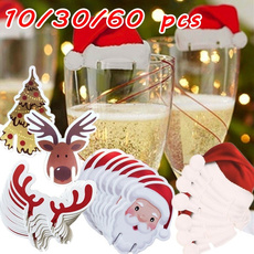 santahatcard, bottlecard, christmashatdecoration, Christmas