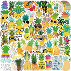 cute, Bicycle, Sports & Outdoors, pineapplesticker