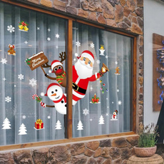 PVC wall stickers, Home & Kitchen, windowsticker, Christmas