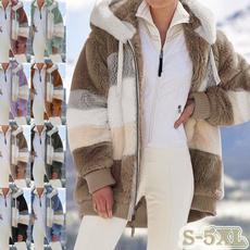 Casual Jackets, Plus Size, fur, Outerwear