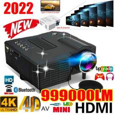 projetor4k, Mini, portableprojector, Hdmi