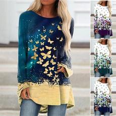 butterflyprint, printedtop, Fashion, Long Sleeve