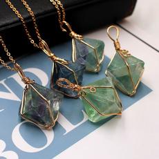 Natural, Jewelry, luckypendant, fluorite