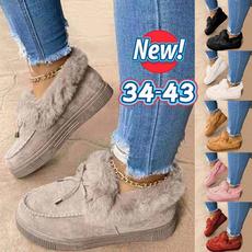 cute, Slip-On, Platform Shoes, Winter