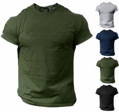 men shirt, Fashion, Necks, solidtshirt