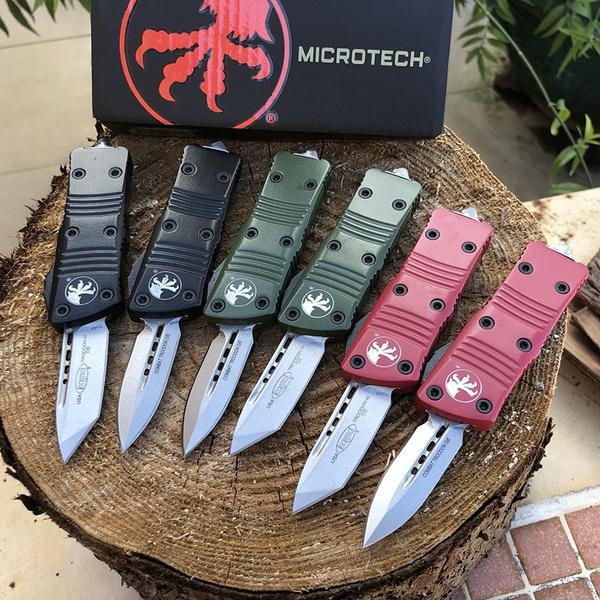 microtechknive, otfknife, camping, Aluminum