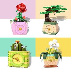Toy, rosebricksblock, Clock, Home & Living