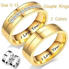 Couple Rings, Steel, Love, wedding ring
